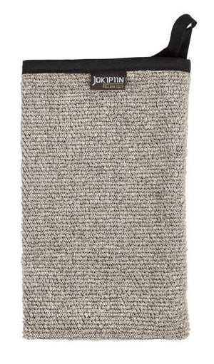 Jokipiin, Villa Linen Wash Mitt - natural/black, - Placewares