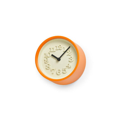 Lemnos, Chiisana Tokei Small Clock - multiple colors, Orange- Placewares