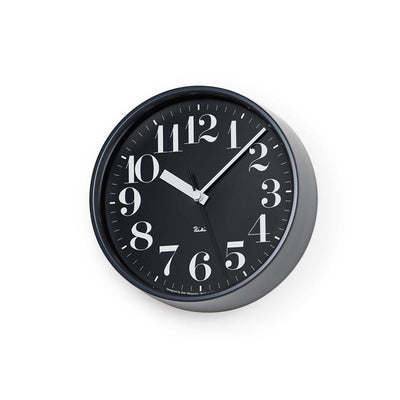 Lemnos, Riki Steel Clock, assorted colors, Black- Placewares