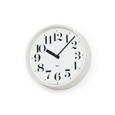 Lemnos, Riki Steel Clock, assorted colors, White- Placewares