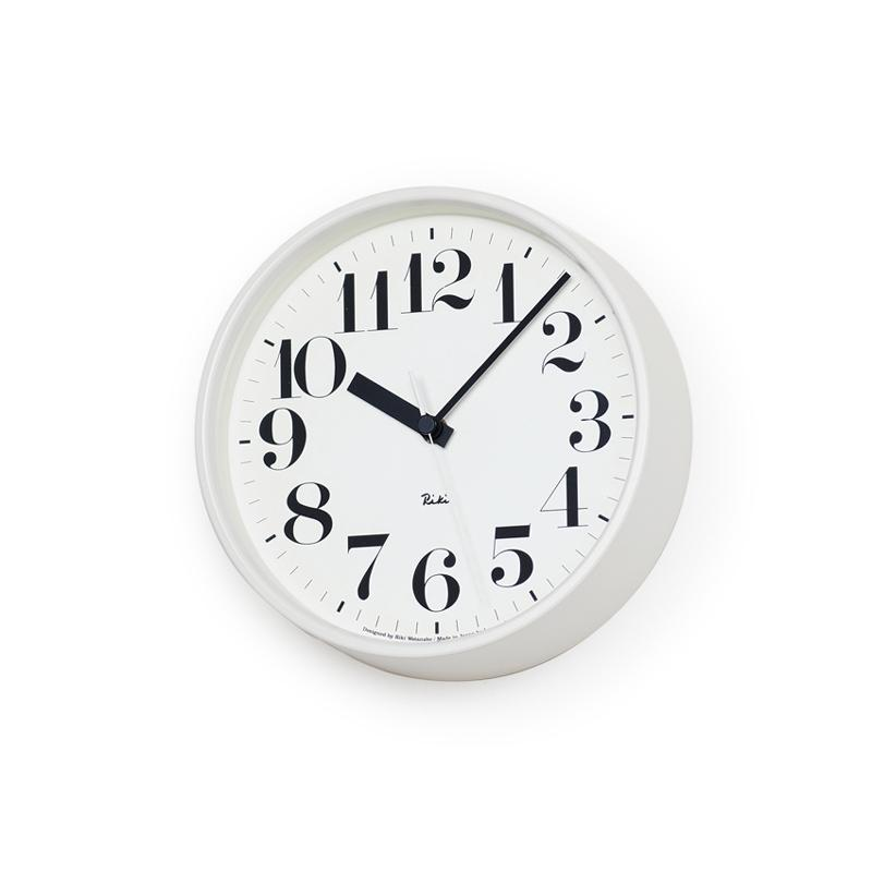 Lemnos, Riki Steel Clock - Black or White, Black- Placewares