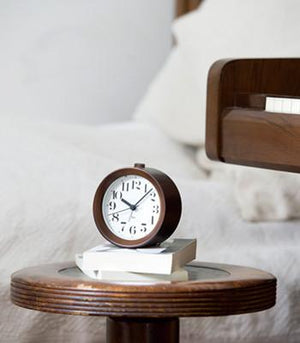 Lemnos, Riki Alarm Clock Wood - Natural, - Placewares