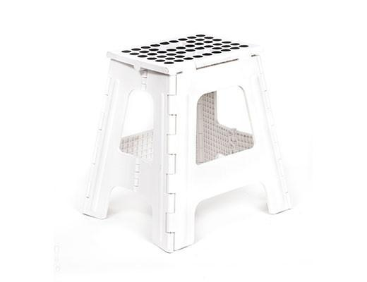 Kikkerland, Rhino II Tall Folding Step Stool, White- Placewares