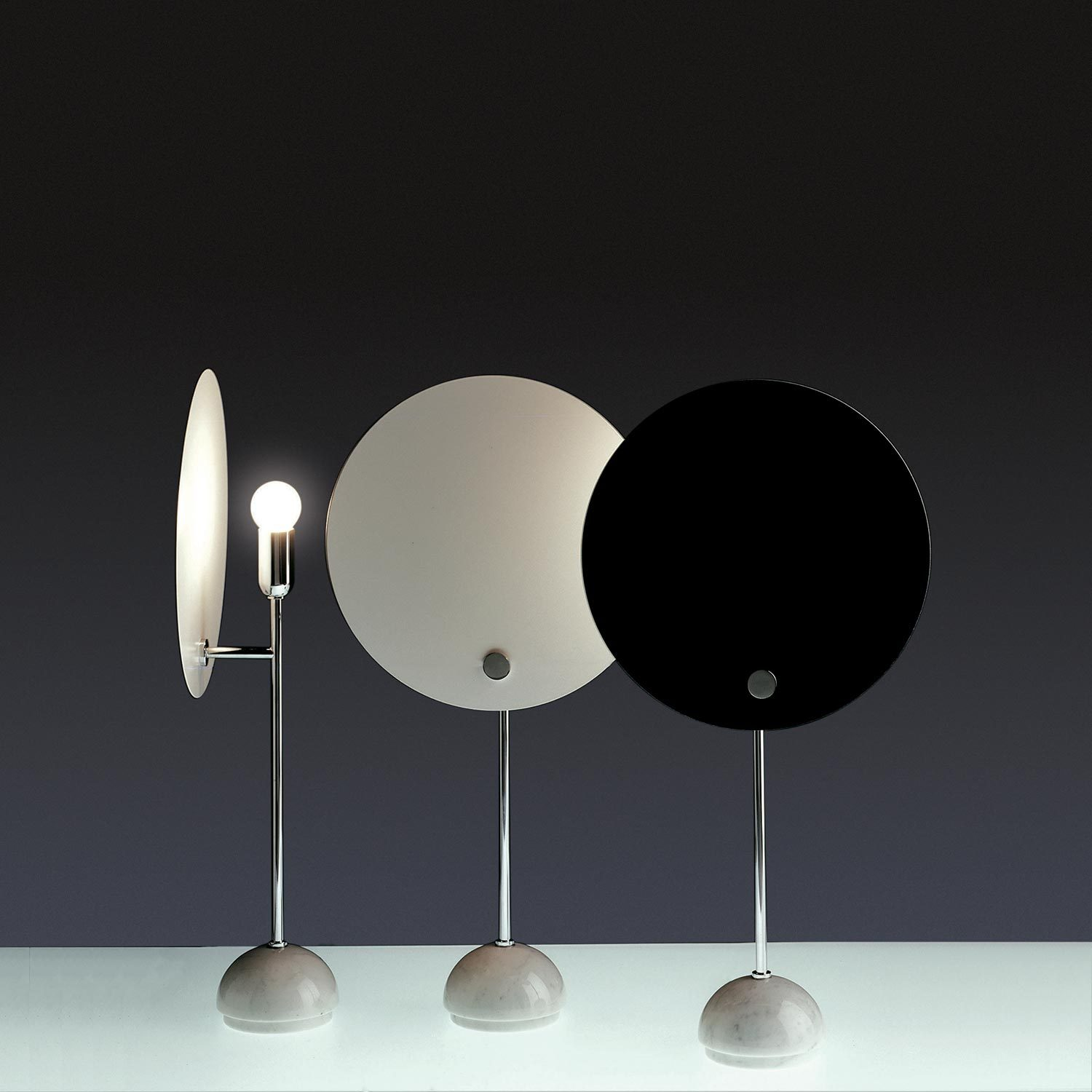 Nemo, Kuta Table, White/Black Reflector; Chormed Structure- Placewares
