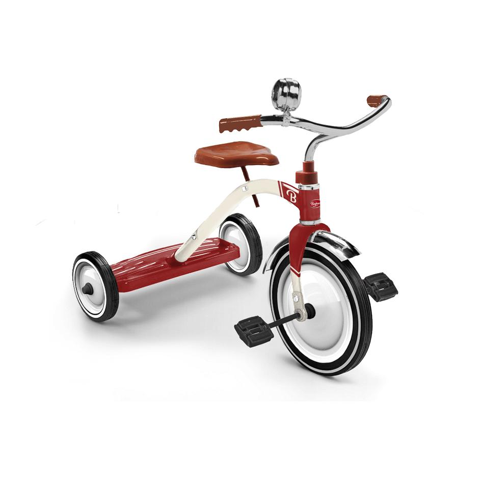 Baghera, Ride-On Vintage Red Tricycle, Red- Placewares