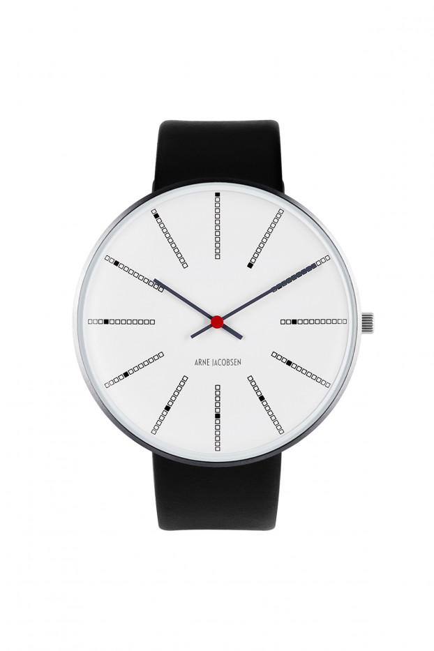 Arne Jacobsen, Arne Jacobsen Banker's 46mm Wrist Watch, - Placewares