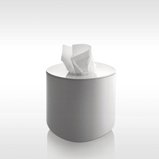 Alessi, Birillo tissue box, White- Placewares