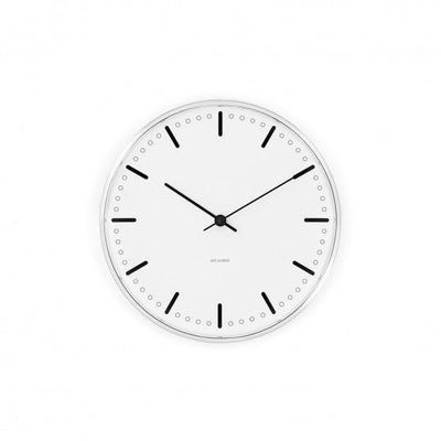 "Arne Jacobsen, Arne Jacobsen City Hall Wall Clock, Ø 8.3""- Placewares"