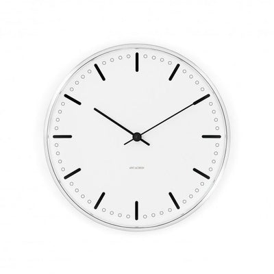 "Arne Jacobsen, Arne Jacobsen City Hall Wall Clock, Ø 11.4""- Placewares"