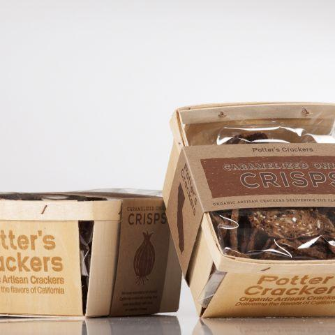 Potter's Crackers, Caramelized Onion Crisps, - Placewares