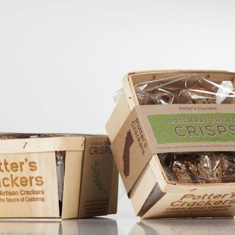 Potter's Crackers, Rosemary Thyme Crisps, - Placewares