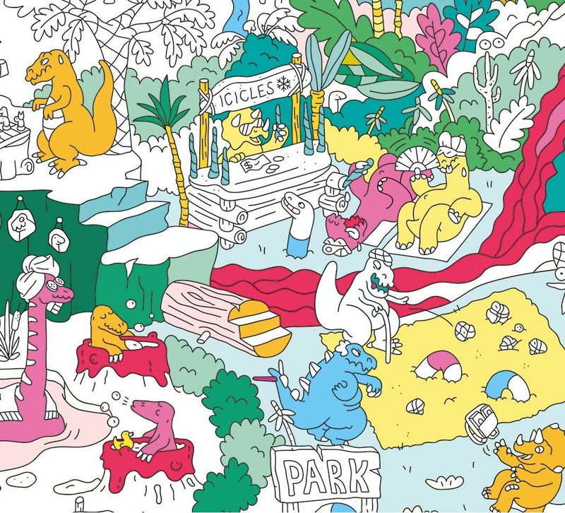 OMY, Dinos Coloring Poster, - Placewares