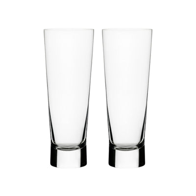 Iittala, Aarne Pilsner Glasses, Set of 2, - Placewares