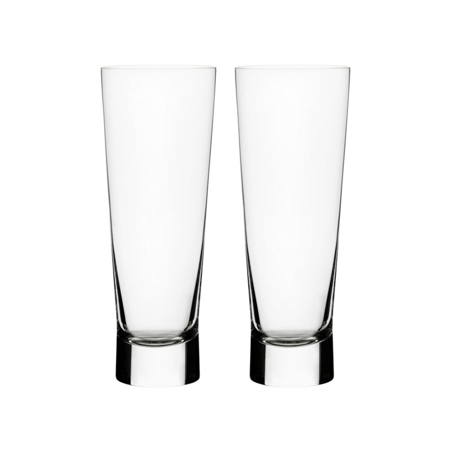 Iittala, Aarne Pilsner Beer Glasses, Set of 2, - Placewares