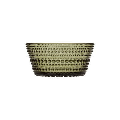 Iittala, Kastehelmi Bowl - multiple colors, Moss Green- Placewares