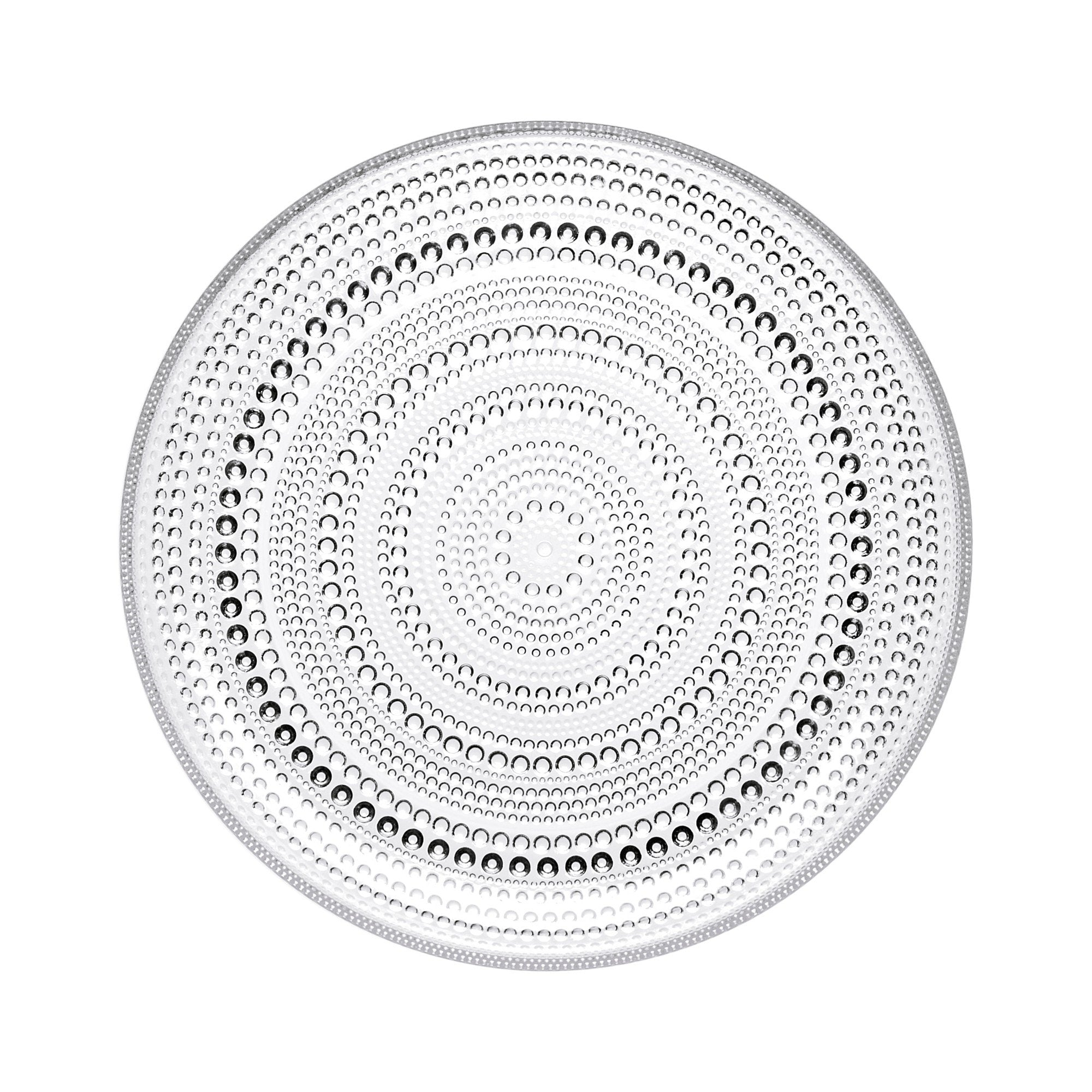 Iittala, Kastehelmi Lunch and Salad Plate, assorted colors, Clear- Placewares