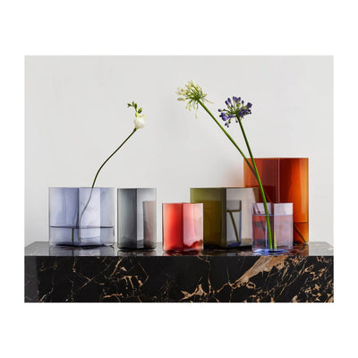 Iittala, Ruutu Vase, 4.5 x 5.5 in - multiple colors, - Placewares
