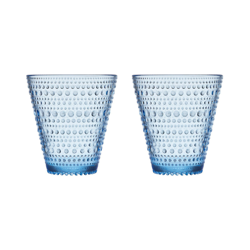 Iittala, Kastehelmi Clear Tumblers, Set of 2, assorted colors, - Placewares