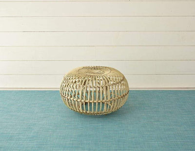 "Chilewich, Mini Basketweave Woven Floor Mats, Turquoise / Small (23 x 36"")- Placewares"