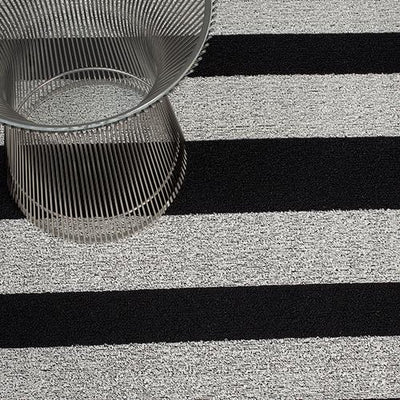 Chilewich, Bold Stripe Shag, Doormat - multiple colors, Black/White- Placewares
