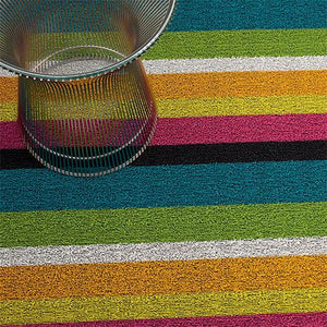 Chilewich, Bold Stripe Shag, Doormat - multiple colors, Multi- Placewares