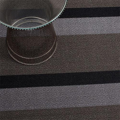 Chilewich, Bold Stripe Shag, Doormat - multiple colors, Silver/Black- Placewares