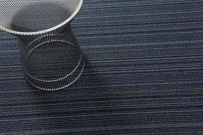 Chilewich, Skinny Stripe Shag, Big Mat - multiple colors, Blue- Placewares