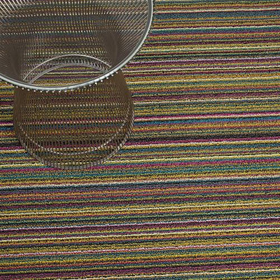 Chilewich, Skinny Stripe Shag, Doormat - multiple colors, Bright Multi- Placewares