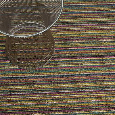Chilewich, Skinny Stripe Shag Runner - multiple colors, Bright Multi- Placewares