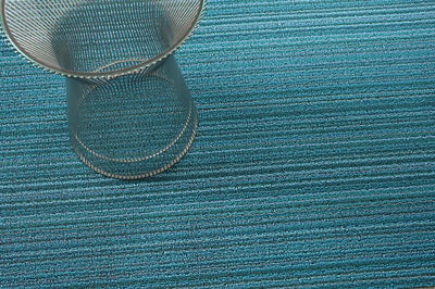 Chilewich, Skinny Stripe Shag Runner - multiple colors, Turquoise- Placewares