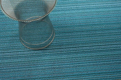 Chilewich, Skinny Stripe Shag, Big Mat - multiple colors, Turquoise- Placewares