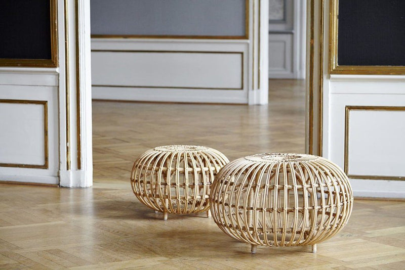 Sika, Franco Albini Large Ottoman, Natural Skin On- Placewares