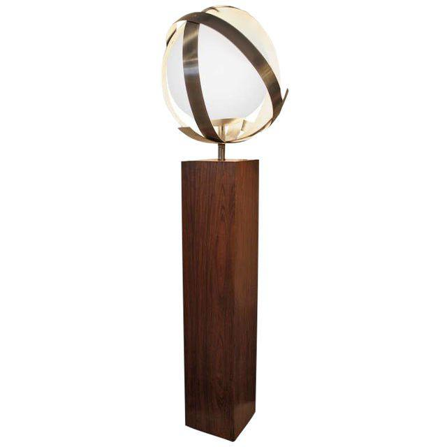 Vintage @ Placewares, Gaetano Sciolari for Lightolier Rosewood & Aluminum Floor Lamp, - Placewares