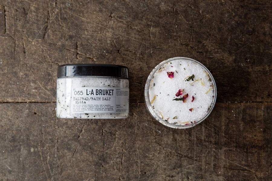 L:A Bruket, Bath Salt, Marigold / Orange / Geranium, - Placewares