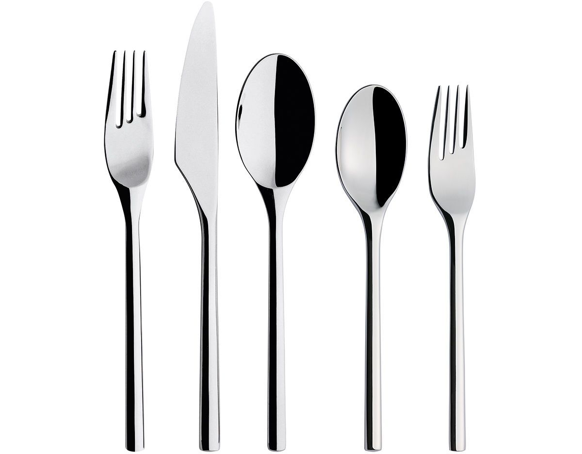 Iittala, Artik 5-Piece Place Setting, Stainless Steel- Placewares