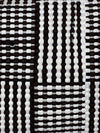 Utilitario Mexicano, Handmade Mexican Cotton Plaid Mat, assorted colors, Big Mat / Black & White- Placewares