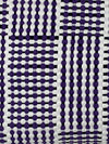 Utilitario Mexicano, Handmade Mexican Cotton Plaid Mat, assorted colors, Big Mat / Purple, Black & White- Placewares