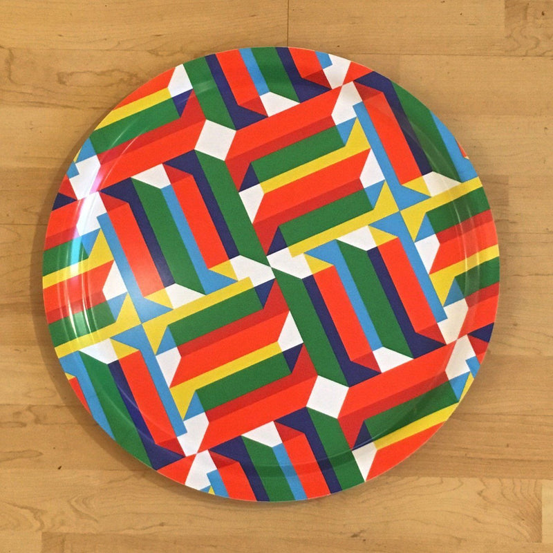 Jim Isermann @ Placewares, Round Tray, Pattern 2 - Jim Isermann @ Placewares, - Placewares