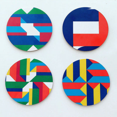 Jim Isermann @ Placewares, Coasters, 4/set - Jim Isermann @ Placewares, - Placewares