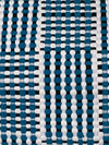 Utilitario Mexicano, Handmade Mexican Cotton Plaid Mat, assorted colors, Big Mat / Turquoise, Black & White- Placewares