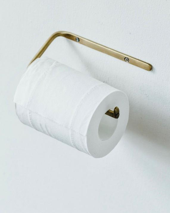 Fog Linen, Handmade Brass Toilet Paper Holder, - Placewares