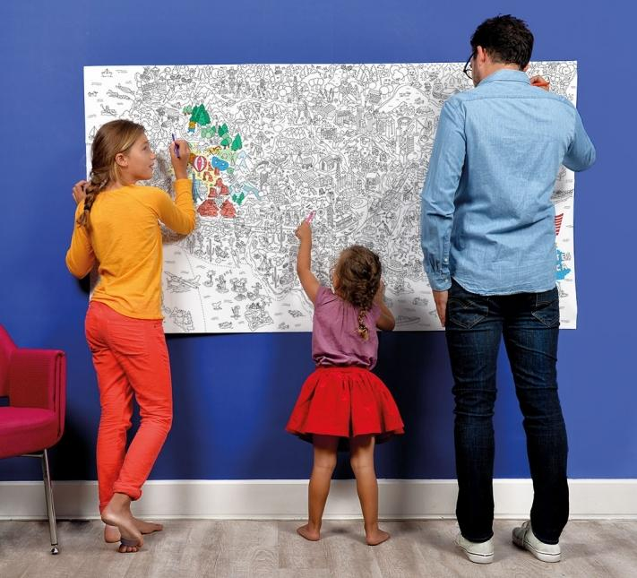 OMY, USA XXL Coloring Poster, - Placewares