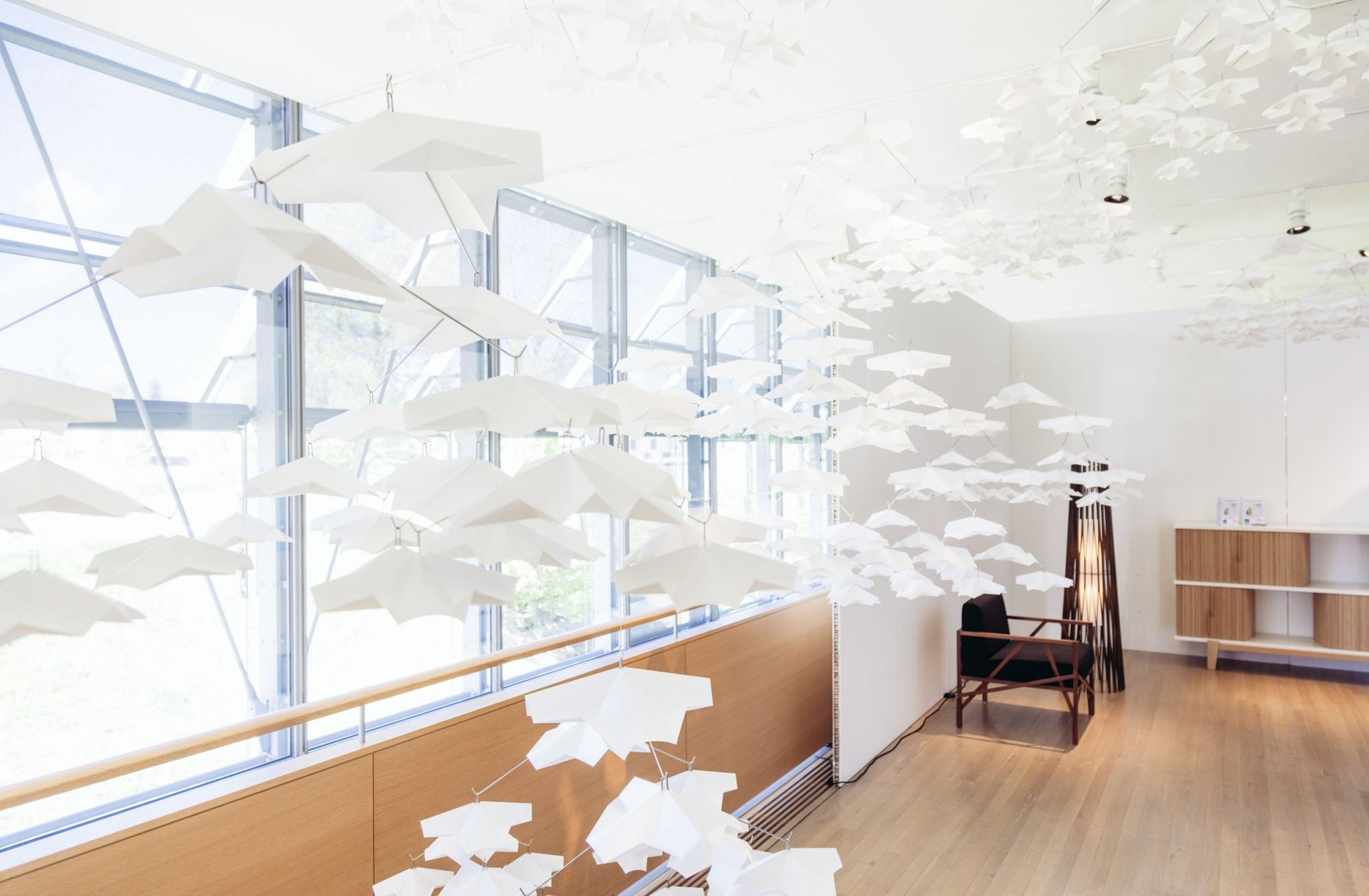 Minoshi Garden Rice Paper Ceiling Mobile Placewares