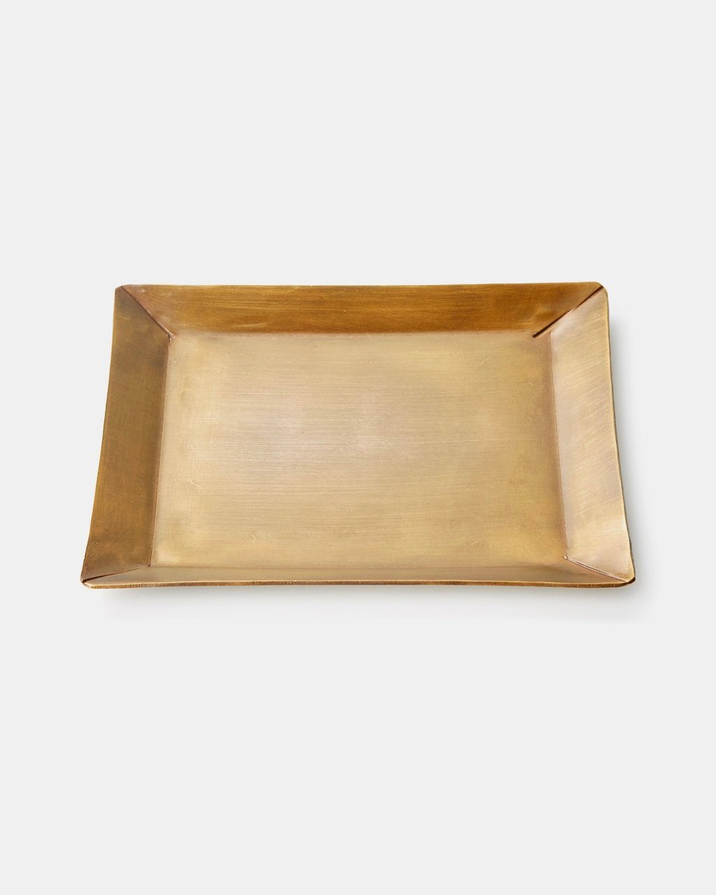 Fog Linen, Handmade Brass Rectangle Plate, One-Size- Placewares
