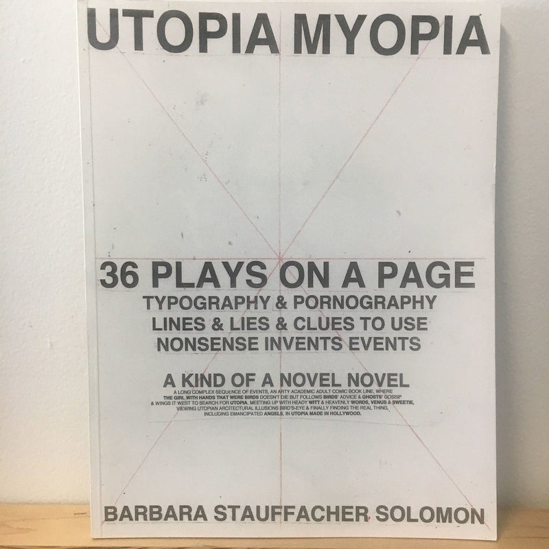 Barbara Stauffacher Solomon, Utopia Myopia - Signed Copy, - Placewares