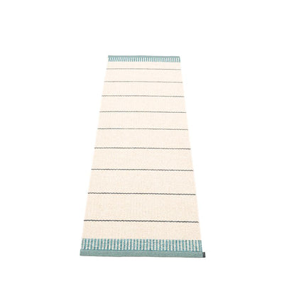 Pappelina, Belle Rug - Haze Blue-Green, 2' x 6.5'- Placewares