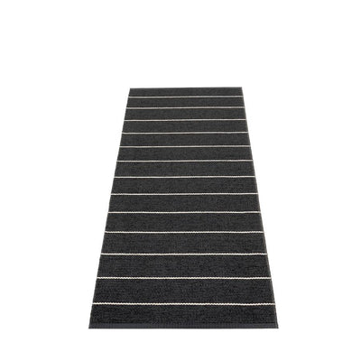 Pappelina, Carl Rug - Black, 2.25' x 6'- Placewares