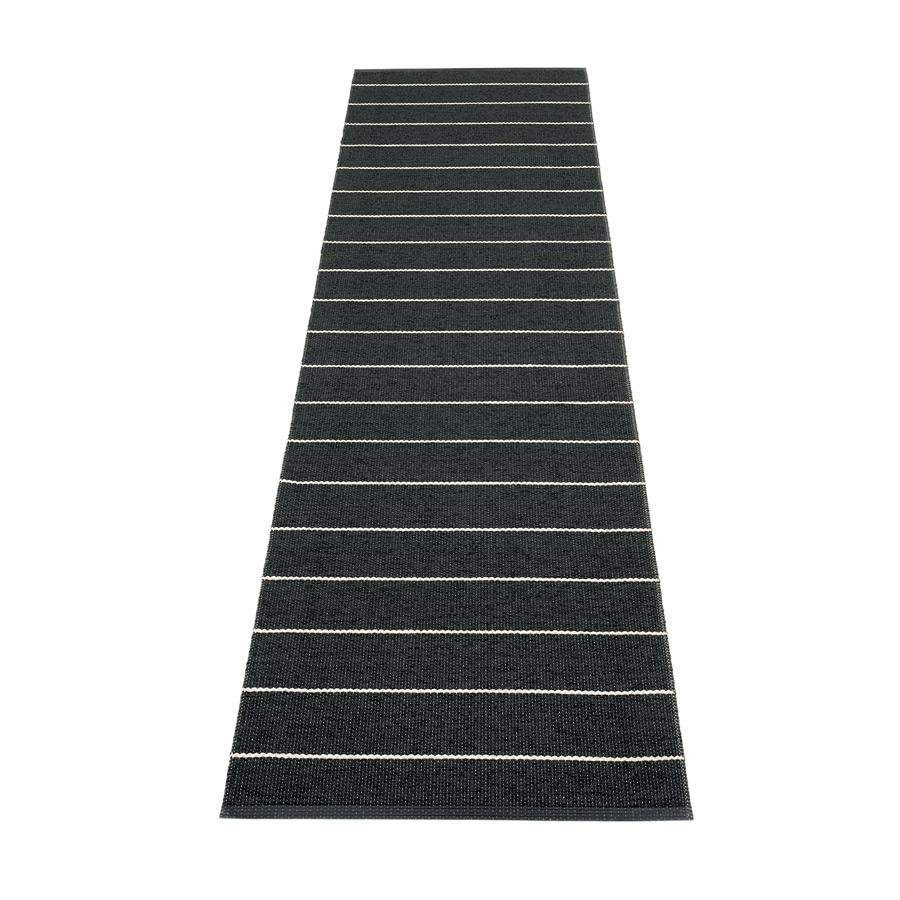 Pappelina, Carl Rug - Black, 2.25' x 8.75'- Placewares