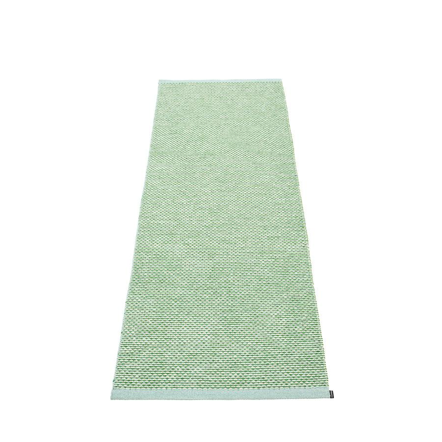 Pappelina, Effi Rug - Pale Turquoise-Grass Green-Vanilla, 2.25' x 6.5'- Placewares