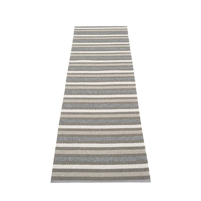 Pappelina, Grace Rug - Charcoal, 2.25' x 9'- Placewares